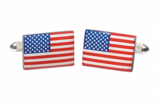 USA Stars and Stripes Flag Cufflinks